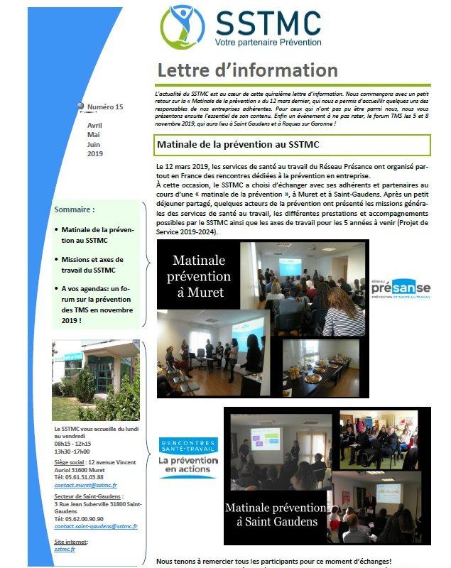 Lettre d'information n°15